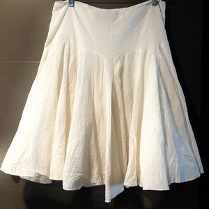 Club Monaco pleated cotton skirt